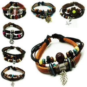 【送料無料】ブレスレット アクセサリ― ローラーブレスレットサーファービーズ1 roller leather bracelet surfer beads men women