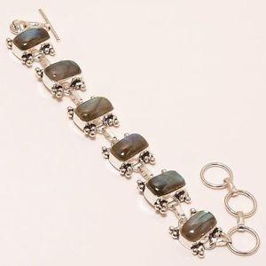 【送料無料】ブレスレット アクセサリ― ハンドメイドジュエリーブレスレットluxurious labradorite gemstone handmade jewelry bracelet 78 b156