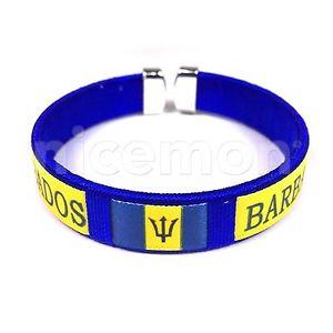 【送料無料】ブレスレット アクセサリ― バルバドスブレスレットスレッドブレスレットカフカリブbarbados national bracelet wrist threaded bracelet cuff eastern caribbean 1sz