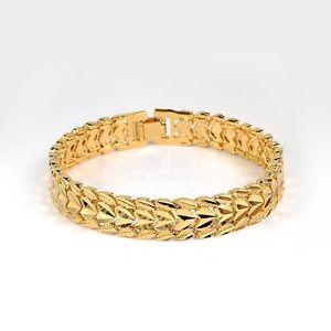 【送料無料】ブレスレット アクセサリ― ウィメンズメンズブレスレットハートチェーンkイエローゴールドリンクファッションwomensmens bracelet heart chain18k yellow gold filled 8link fashion jewelry