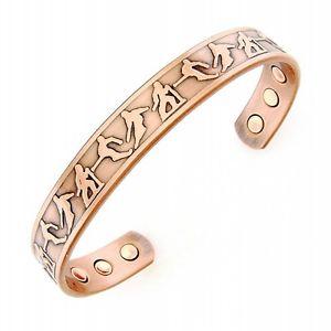 【送料無料】ブレスレット アクセサリ― ブレスレットスキーヤーmagnetic copper bracelet with skiers