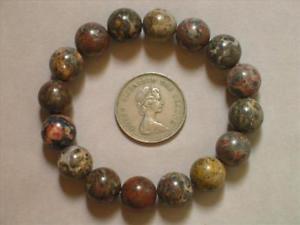 【送料無料】ブレスレット アクセサリ― ブレスレットヒョウジャスパービーズストレッチbracelet leopard skin jasper 12mm round beads stretch ll01