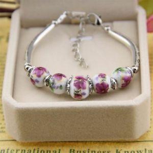 【送料無料】ブレスレット アクセサリ― セラミックビーズブレスレットファッションビーズブレスレットクリスマスceramic beads bracelet fashion handmade beads women bracelet christmas gift