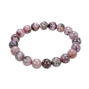 【送料無料】ブレスレット アクセサリ― ブレスレットラウンドコードインチrhodochrosite bracelet 10mm smooth round gemstone elastic cord 75 inch long