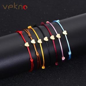 【送料無料】ブレスレット アクセサリ― veknoブレスレットマルチカラーロープadjustabvekno gold color heart bracelet silver handmade jewelry multicolor rope adjustab