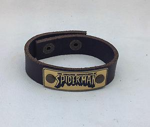 【送料無料】ブレスレット アクセサリ― ニュービルジュエリーラップ spiderman leather bracelet jewelry, wrist wrap, genuine leather, hand made