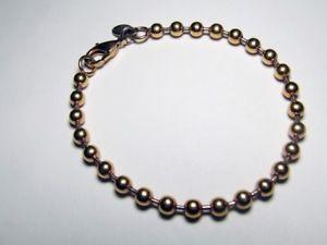 【送料無料】ブレスレット アクセサリ― ステンレスビーズリンクブレスレットkイエローゴールド75 milor stainless steel beaded link bracelet 14k yellow gold over