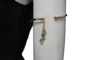 【送料無料】ブレスレット アクセサリ― メタルハイアームカフブレスレットファッションジュエリードロップwomen gold metal high arm cuff bracelet fashion jewelry skinny wrap around drop