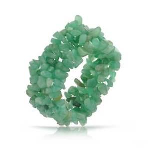 【送料無料】ブレスレット アクセサリ― チップストレッチブレスレットgreen aventurine chips chunky stretch bracelet