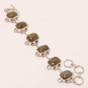 【送料無料】ブレスレット アクセサリ― ハンドメイドジュエリーブレスレットalluring labradorite gemstone handmade jewelry bracelet 78 b155