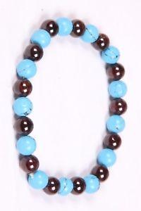 【送料無料】ブレスレット アクセサリ― ターコイズビーズゴムブレスレットゴムブレスレット listinggarnet and turquoise beads rubber bracelet,round rubber bracelet