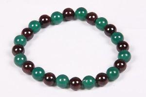【送料無料】ブレスレット アクセサリ― グリーンオニキスラウンドビーズゴムブレスレットビーズブレスレット listinggarnet and green onyx round beads rubber bracelet,gemstone beaded bracelet