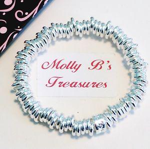 【送料無料】ブレスレット アクセサリ― マルチブレスレットsilver metal multicircles stretchable bracelet 75