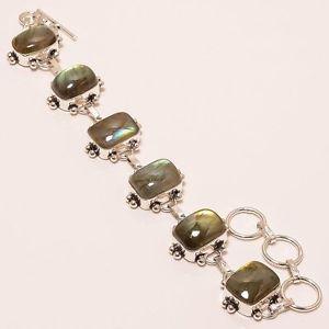 【送料無料】ブレスレット アクセサリ― ハンドメイドジュエリーブレスレットmagnificent labradorite gemstone handmade jewelry bracelet 78 b150
