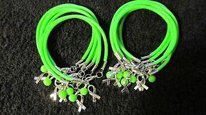 【送料無料】ブレスレット アクセサリ― ライムグリーンリンパガラスビーズブレスレット1 dz lime green lymphoma cancer hope w glass bead bracelets **free shipping**