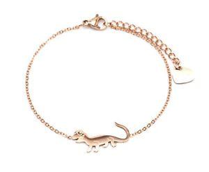【送料無料】ブレスレット アクセサリ― トカゲトカゲbc3070fチェーンbc3070ffine chain bracelet with charm salamander lizard rose gold steel