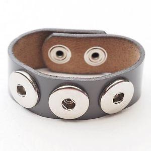 【送料無料】ブレスレット アクセサリ― ボタンwomens leather bracelet in grey push button bracelet real leather womens bracelet