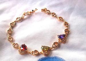 【送料無料】ブレスレット アクセサリ― マルチカラーブレスレットゴールドkゴールド×bracelet for women multicolor, gold 9k gold filled 205mm*10mm