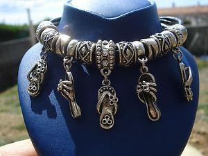 【送料無料】ブレスレット アクセサリ― ブレスレットラバレザーcute bracelet charmsmulesmetal silver platedleather