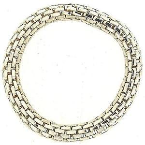 【送料無料】ブレスレット アクセサリ― カラーアルジェントtoc color argento metallo spesso a rete effetto elasticizzato bracciale