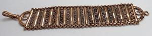 【送料無料】ブレスレット アクセサリ― ブレスレットチェーンローズゴールドメッキベルトロングbracelets chain brass rose gold plated 36mm wide belt 8 long