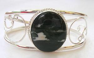【送料無料】ブレスレット アクセサリ― ハンドメイドスターリングシルバーカフブレスレットhandmade 925 sterling silver gemstone cuff bracelet in boswana agate  uk25