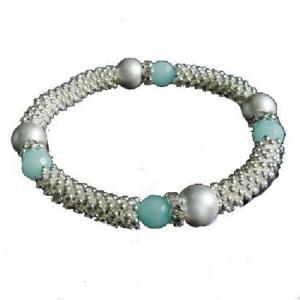 【送料無料】ブレスレット アクセサリ― パークレーンビーズブレスレットpark lane silvertone amp; blue beads elasticated bracelet