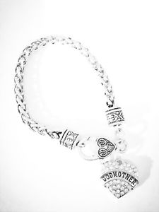 【送料無料】ブレスレット アクセサリ― ブレスレットクリスマスgodmother charm bracelet mothers day christmas gift will you be my godmother