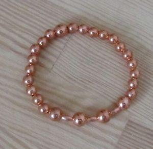【送料無料】ブレスレット アクセサリ― ビーズブレスレットボックスcopper beaded elasticated bracelet free gift box