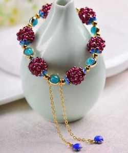 【送料無料】ブレスレット アクセサリ― クリスマスガーネットターコイズブレスレットchristmas gift handwoven garnet turquoise bracelet