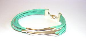 【送料無料】ブレスレット アクセサリ― ターコイズストランドレザーカフブレスレットbeautiful 5 strand leather cuff bracelet in turquoise
