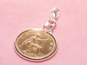 【送料無料】ブレスレット アクセサリ― コインブレスレットハングアップ1915 103rd birthday farthing coin bracelet charm ready to hang 1915 birthday