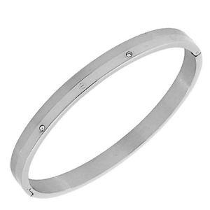 【送料無料】ブレスレット アクセサリ― マットブラントンブレスレットacier inoxydable cristaux zircone mat poli blanc argent ton dor bracelet