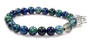 【送料無料】ブレスレット アクセサリ― マラカイトブレスレットクリスマス listingnatural azurite malachite bracelet gemstone jewelry 85 mm birthday xmas gift