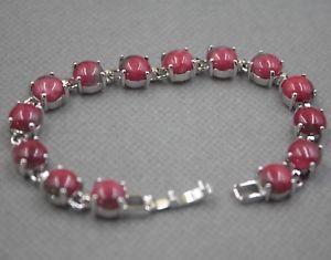 【送料無料】ブレスレット アクセサリ― ヒーターヒスイラウンドビーズリンクブレスレット charm 8mm red heating jade round bead with aolly link bracelet 175cm l