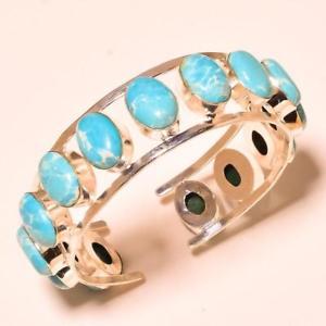 【送料無料】ブレスレット アクセサリ― ハンドメイドブレスレットカフ listingoval shape caribbean larimar gemstone handmade bracelet cuff