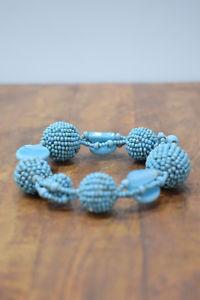 【送料無料】ブレスレット アクセサリ― ブレスレット2トルコブレスレットbracelet beaded 2 turquoise bead elastic bracelet