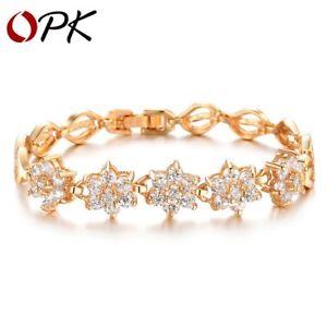 【送料無料】ブレスレット アクセサリ― ロマンチックaaaジルコンクリスマスromantic flower design gold aaa cubic zircon bracelets xmas gifts for her woman