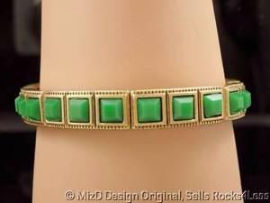 【送料無料】ブレスレット アクセサリ― ソフィアヴェルデストレッチブレスレットlia sophia verde square green stone goldtone stretch bracelet