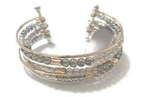 【送料無料】ブレスレット アクセサリ― jjill beaded mix metal cuff bracelet  with tagjjill beaded mix metal cuff bracelet with tag