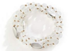 【送料無料】ブレスレット アクセサリ― jjill hand brushed beaded wrap bracelet  with tagjjill hand brushed beaded wrap bracelet with tag