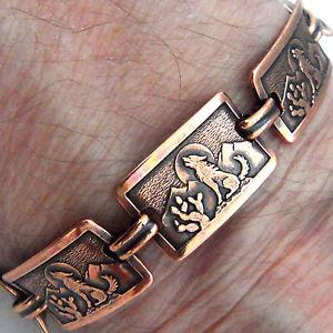 【送料無料】ブレスレット アクセサリ― ブレスレット775247コヨーテリンクcopper bracelet 775 linked wheeler coyote desert arthritis healing folklore 247