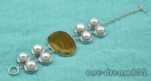 【送料無料】ブレスレット アクセサリ― バロックラウンドパールブレスレット8 40mm baroque agate 11mm round pearl bracelet
