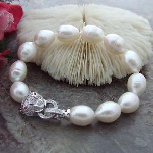 【送料無料】ブレスレット アクセサリ― ホットサウスシーホワイトパールブレスレットインチhot huge aaa 1013mm south sea white pearl bracelet 758 inch