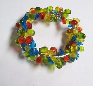 【送料無料】ブレスレット アクセサリ― カラフルガラスカフブレスレットcolorful glass cuff bracelet