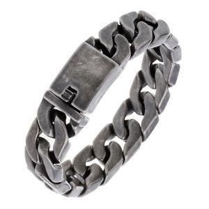送料無料 ブレスレット アクセサリ― チェーンブレスレットmens baclk chain bracelet heavy bling jewelry gift for dad d012 85 achor charm35jLqcAS4R