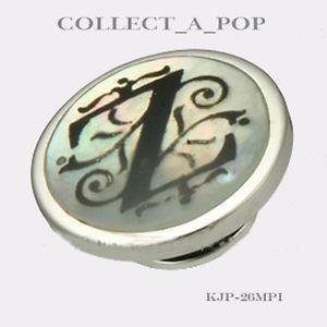 【送料無料】ブレスレット アクセサリ― スターリングシルバーレターauthentic kameleon sterling silver letter of pearl z jewelpop kjp026mpi