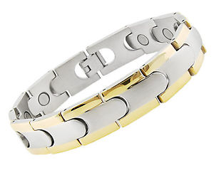 【送料無料】ブレスレット アクセサリ― ステンレススチールブレスレットmagnetic stainless steel bracelet grh2221