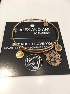 【送料無料】ブレスレット アクセサリ― アレックスゴールドドルボックスカードauthentic alex and ani because i love you gold 28 nwt, box and card