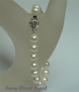 【送料無料】ブレスレット アクセサリ― ホワイトパールブレスレットgenuine 89mm white pearl bracelet 7 75 8 cultured freshwater